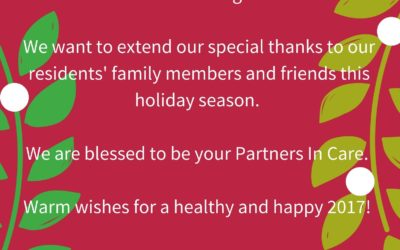 Season's Greetings from Paradise Living Centers
